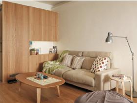 简约日式一居室效果图