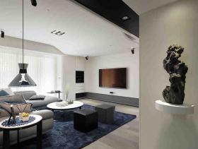 黑白灰现代二居室设计