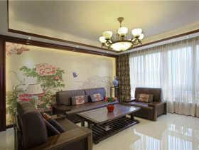 古典中式三居室装修效果图