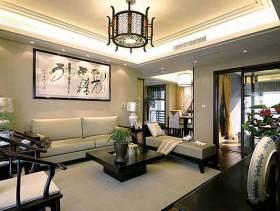 静雅中式二居室的装修效果图