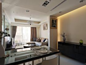 现代两居室装修效果图