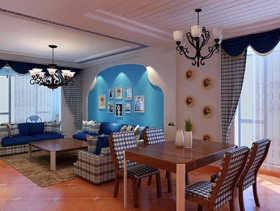 2015年地中海两室装修效果图