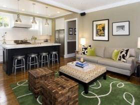 2015现代美式二居室装潢实例