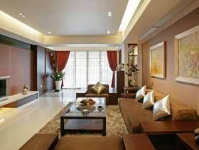 新中式二居装潢效果图