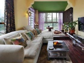 东南亚混搭一居室装修效果图