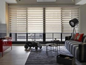 现代英伦风格二居室装修效果图