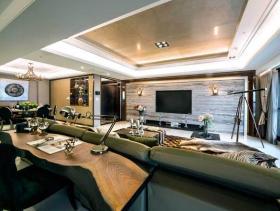 银灰色新古典风格三居室装潢案例