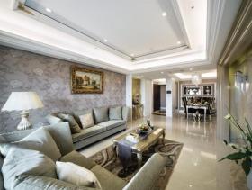 欧风新古典奢华三居装潢设计