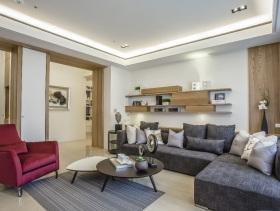 休闲中式二居室装修效果图
