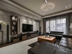 时尚质感现代风三居室设计欣赏