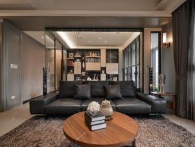 气质非凡现代风格四居室装潢设计欣赏