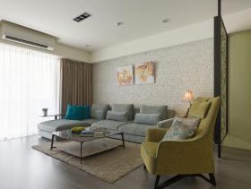 宽敞实用简约风三室一厅装修效果欣赏
