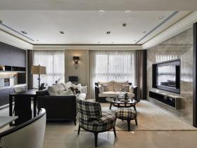 现代风格精致四居室装修设计效果图集