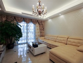 美式现代三室一厅装修效果图