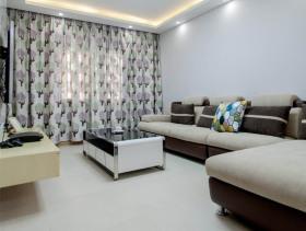 现代时尚原木两室一厅装修案例欣赏
