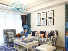 清新自然地中海两居室装修设计图