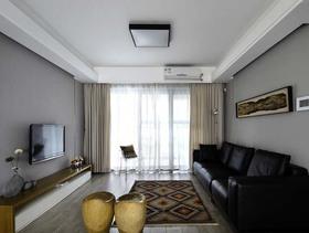 100平现代风格极简四居装修案例