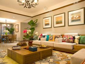 东南亚风情两居装修效果图欣赏