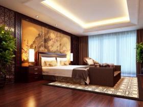 深沉雅美中式风格三居室装潢效果欣赏