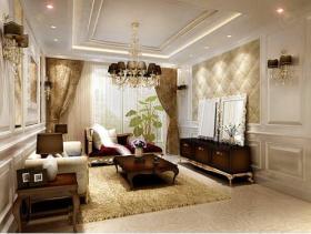 温馨尊贵欧式三居室装修精品案例