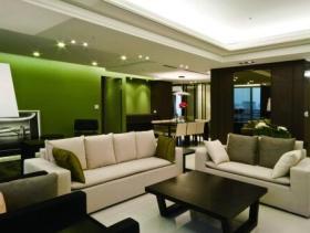 清爽绿色简约风二居室装潢设计