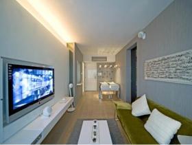 清爽现代风格二居室装修案例