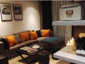 现代暖色系三居室装修效果图片大全