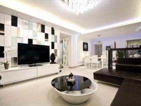 明朗现代风格四居室设计效果图集