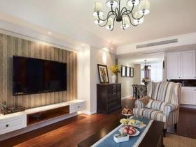 休闲美式经典设计72平二居装潢