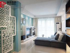 现代清新质感两居装修效果展示