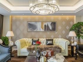 舒适唯美现代简欧风格三居室装潢案例