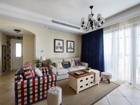 89方欧式清新田园风格小户型两室一厅装潢展示