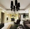 黑白都市时尚现代风格三室两厅两卫装潢案例