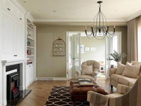 美式自然清新两居室装修案例