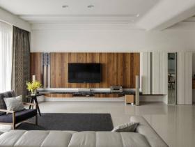 都市大气简约风宽敞三居室装修案例