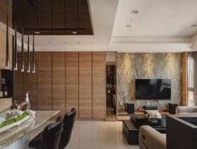 低调时尚现代风格三居装潢实例精选