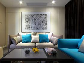 现代清新自然设计两居装修案例