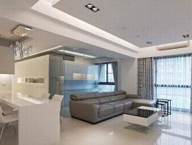 现代简约质感86平两居室设计装潢