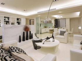 现代新古典主义135平三居装修案例
