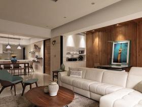 清爽悠然简约风格三居室设计效果图集