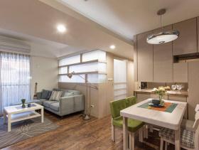 83方现代明亮清新三居紧凑型户型设计装潢