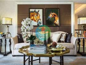 时尚艺术感欧式风格两室一厅装潢设计案例