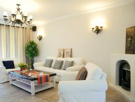 94平白色清新风美式设计三室一厅装修设计图