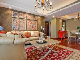 个性摩登欧式三居室装修设计案例