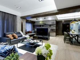 现代典雅品味二居室装修设计效果大全