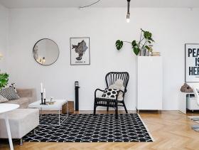 北欧温馨简约两居室设计装潢