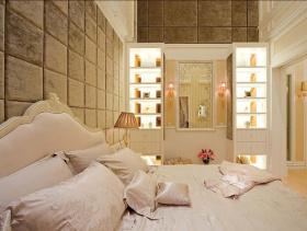 126平欧式三室两厅温馨装潢案例