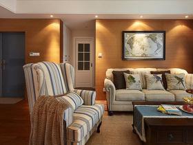 休闲美式两室一厅设计布置