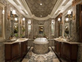 古典优雅欧式复式装修案例欣赏