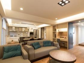 简约和风两室一厅艺术居室装修案例